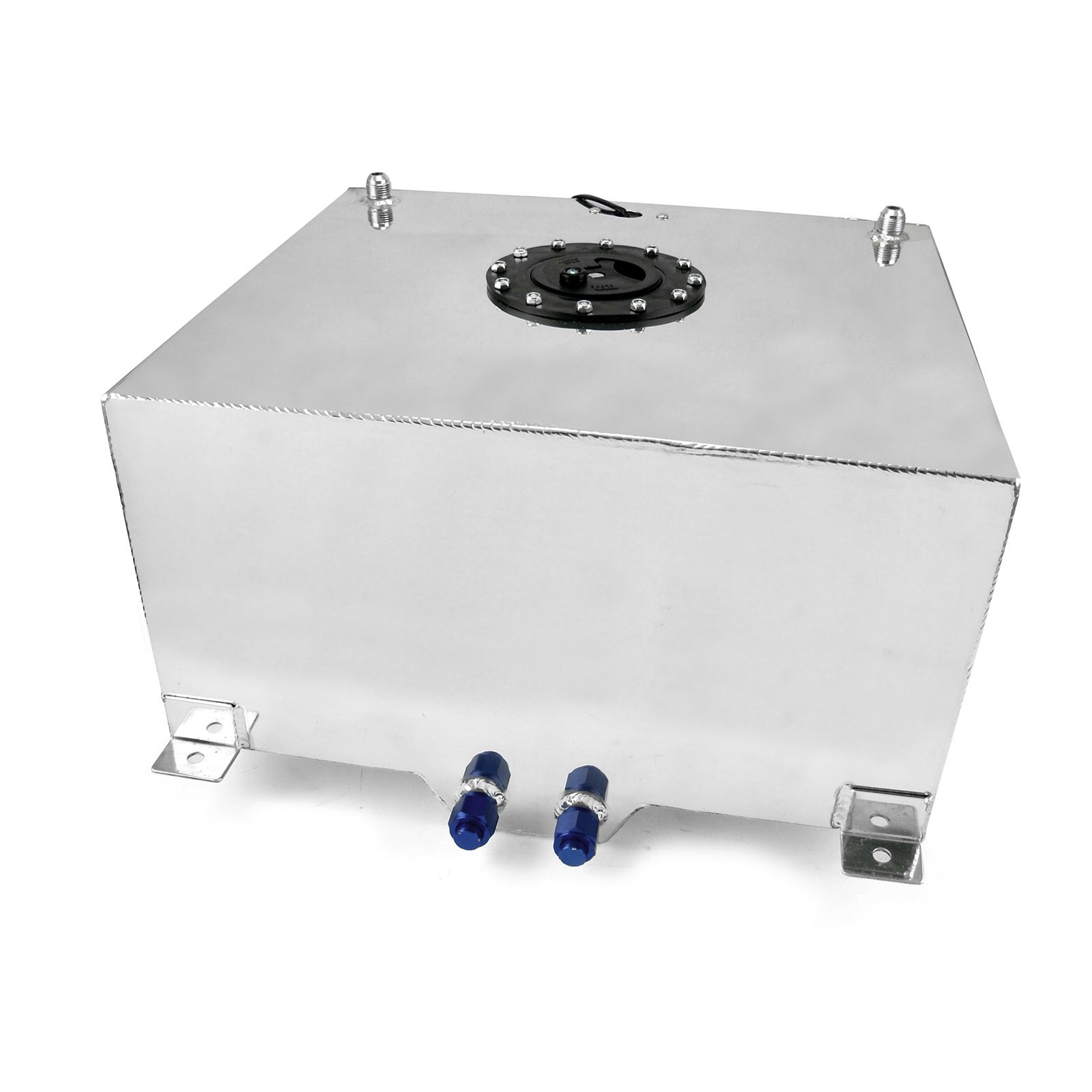 Fuel Cell 15 Gallon Polished Aluminum Angus Racing